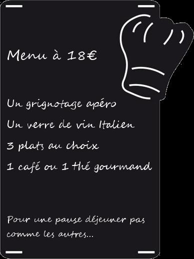 menu restaurant midi